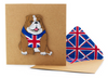British Bulldog greeting card