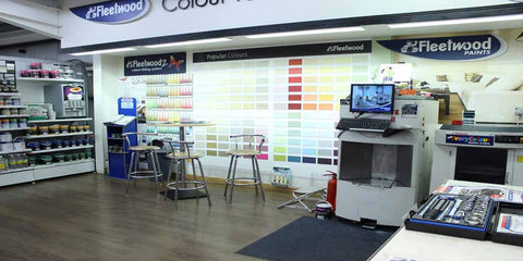 Paint Area at Ted Johnsons
