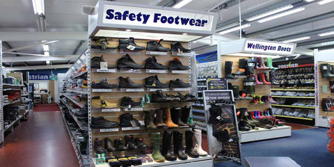 Footwear at Ted Johnsons - safety, non safety, S1 to S3