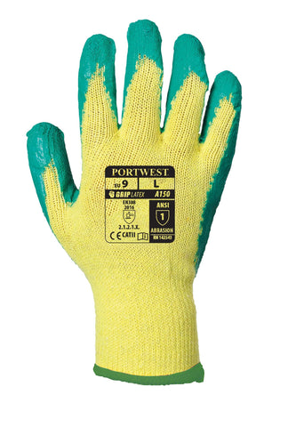 A150 Fortis Grip Glove - Latex Green Portwest at Ted Johnsons