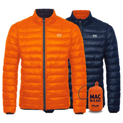 Mac in a Sac Reversible Down Jacket Flame / Navy at Ted Johnsons