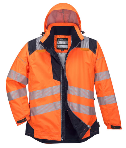 T400 PW3 Hi-Vis Winter Jacket  Orange Portwest at Ted Johnsons