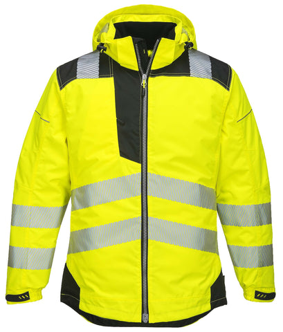 T400 PW3 Hi-Vis Winter Jacket  Yellow Portwest at Ted Johnsons
