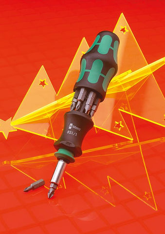 WERA SCREWDRIVER WITH BITS