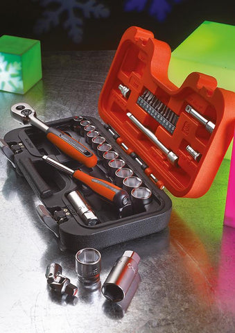BAHCO 34 PIECE 3/8IN SOCKET & BIT SET