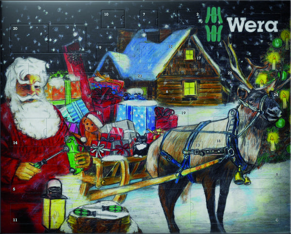 Wera Gift Advent Calendar Kit 2016 Bit Holder And