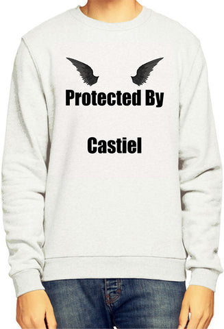 Supernatural Parody Protected By Castiel Sweatshirt / Jumper - Merch Distributor - 1
