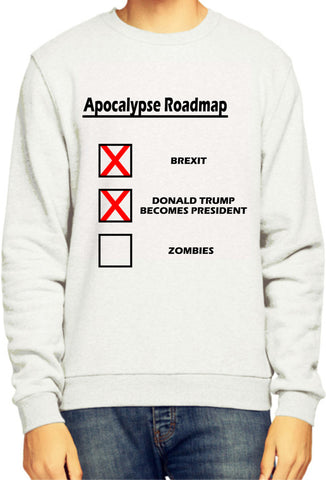 Apocalypse Roadmap Brexit Donald Trump Zombies Sweatshirt / Jumper - Merch Distributor - 1