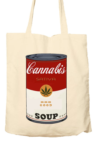 Cannabis Sativa Soup - Environmentally Friendly Tote Bag, Natural Shopping Bag