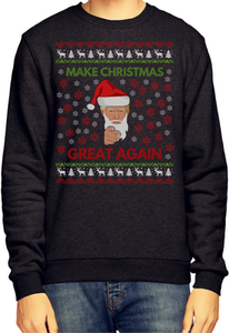 Make Christmas Great Again Donald Trump President Parody Ugly Christmas Sweater
