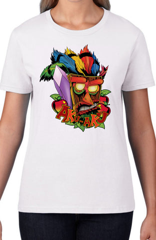 Aku Aku Crash Bandicoot Womens Shirt