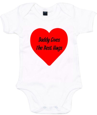 Daddy Gives The Best Hugs Baby Grow