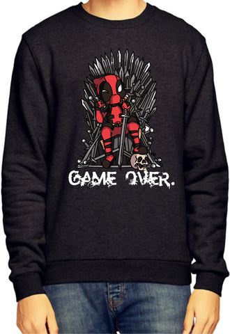Deadpool / Game Of Thrones Parody Black Sweatshirt / Jumper - Merch Distributor