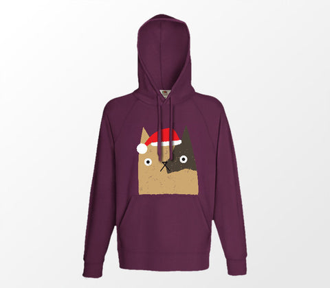 Christmas Cat Range No5 - Father Catmas! - Burgundy Hoodie - Merch Distributor