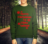 MERRY CHRISTMAS YA FILTHY ANIMAL CHRISTMAS JUMPER / SWEATSHIRT - Merch Distributor - 3