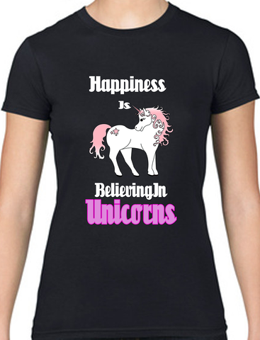 Happiness Is Believing In Unicorns - Merch Distributor - 1