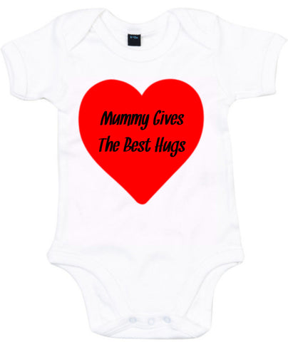 Mummy Gives The Best Hugs Baby Grow