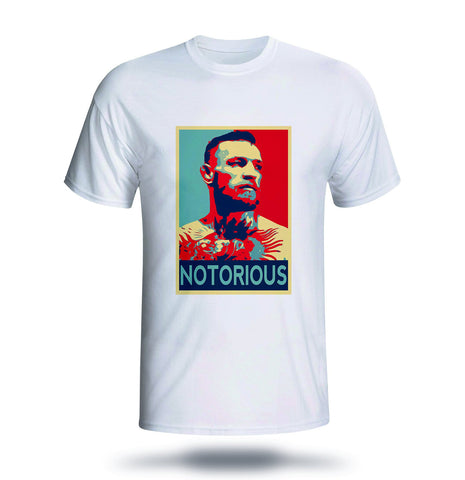 Conor Mcgregor Notorious Two Tone White TShirt