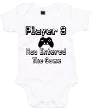 Player 3 Has Entered The Game With Controller Baby Grow