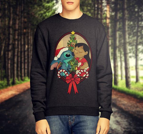 LILO AND STITCH - CHRISTMAS JUMPER / SWEATSHIRT - Merch Distributor - 1