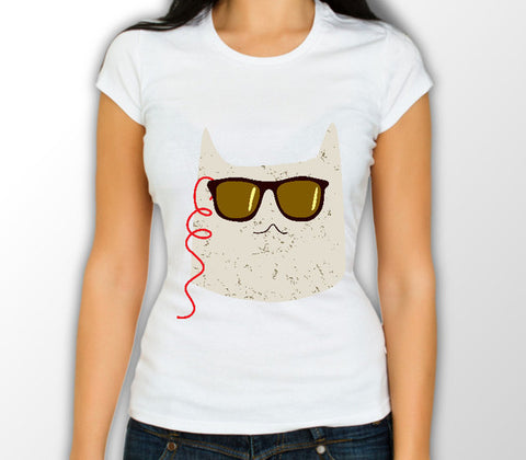 Christmas Cat Range No10 - Streamer Cat! - Womens Variant - Merch Distributor