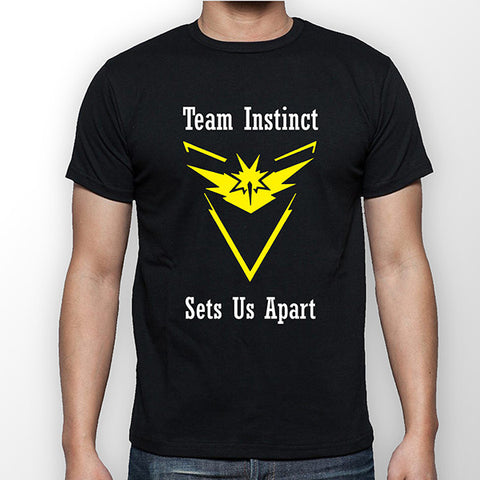 Team Instinct Sets Us Apart - Pokemon Go - Zapdos White T-Shirt - Merch Distributor - 1