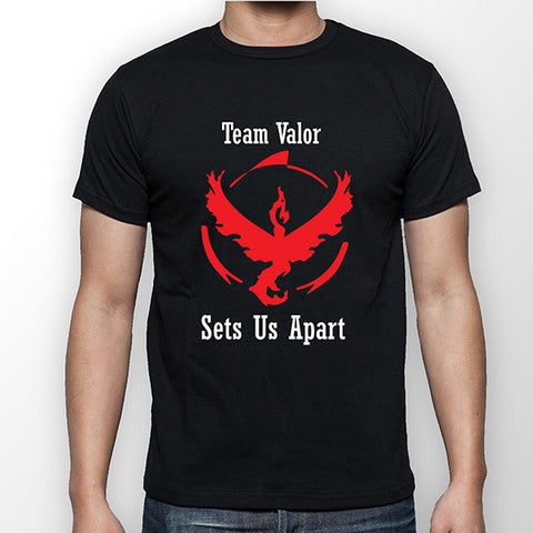 Team Valor Sets Us Apart - Pokemon Go - Moltres White T-Shirt - Merch Distributor - 1