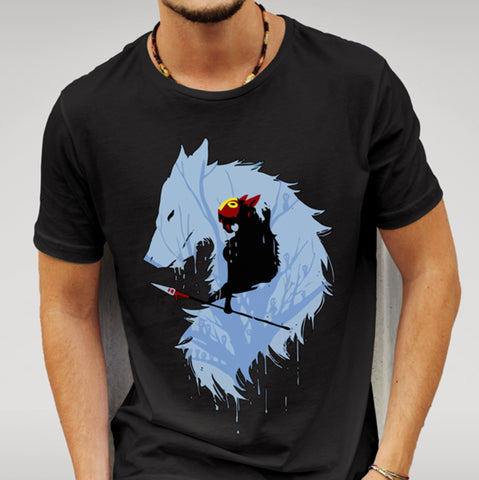 Princess Mononoke Wolf T-shirt - Merch Distributor