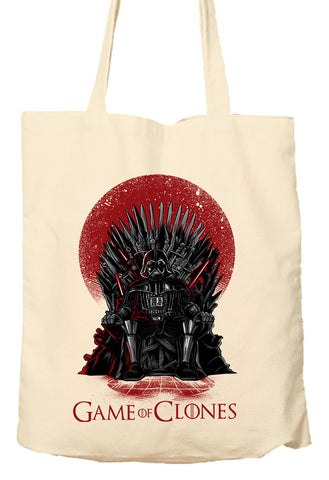 Game Of Clones - Star Wars - Game Of Thrones - Parody - Tote Bag, Natural Shopping Bag, Environmentally Friendly
