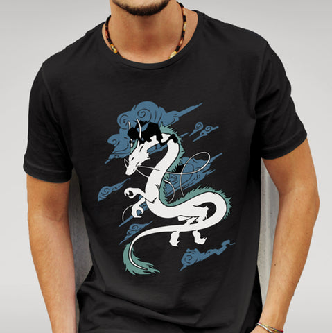 Spirited Away Dragon Black T-shirt - Merch Distributor