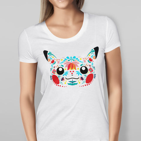 Pokemon Pikachu Floral Design Womens