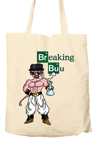 Breaking Buu Breaking Bad Dragon Ball Z - Environmentally Friendly Tote Bag, Natural Shopping Bag