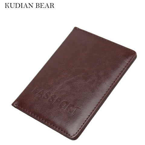 Kudian Bear Leather Passport Cover