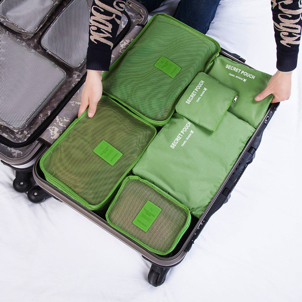 Korean Style 6 Pcs Set Travel Home Luggage Storage Bag Clothes In 1 Organizer An Portable Pouch