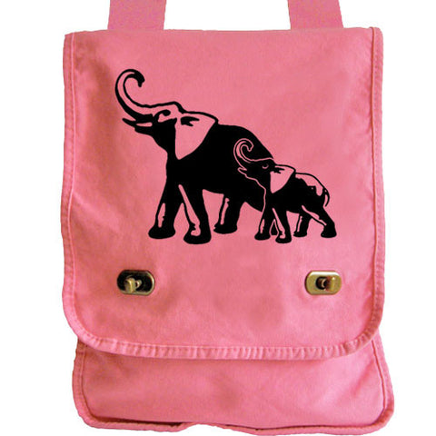 Elephants Messenger Bag pink