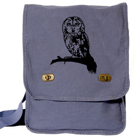 Cute Owl Bag Custom Messenger blue