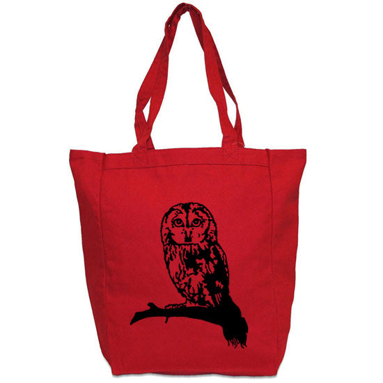 owl red tote