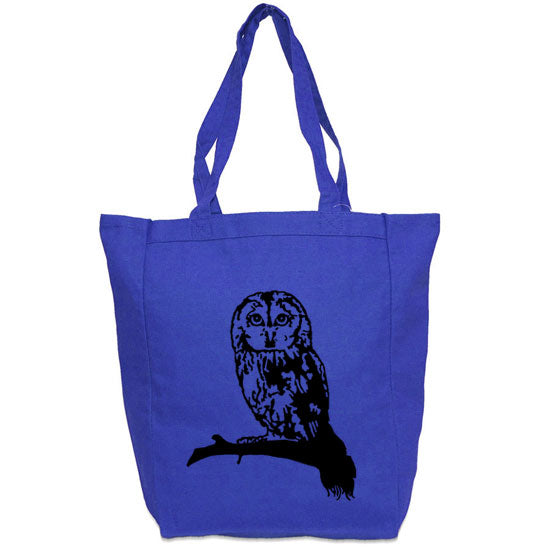 Owl Tote Bag - Custom Canvas Carry All Tote