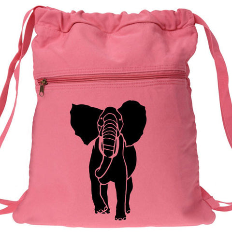 African Elephant Backpack pink