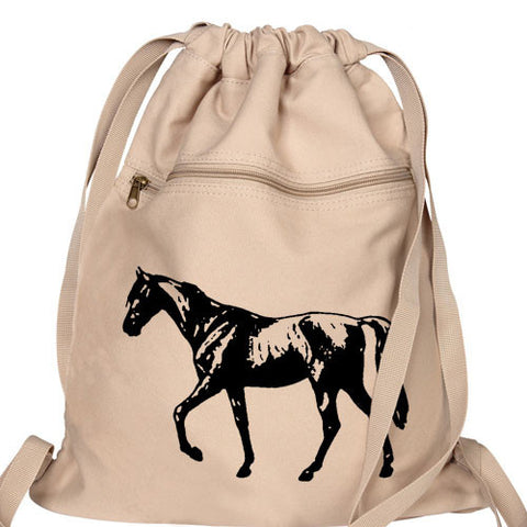 Horse Backpack tan