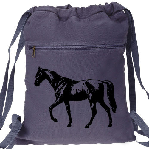 Horse Backpack blue