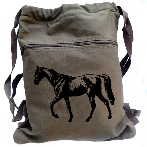 Horse Backpack brown