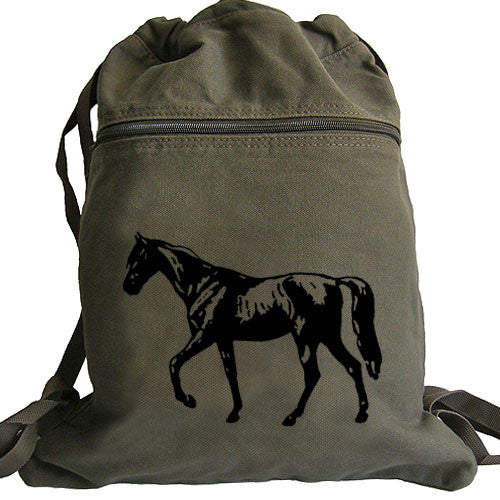 Horse Backpack green