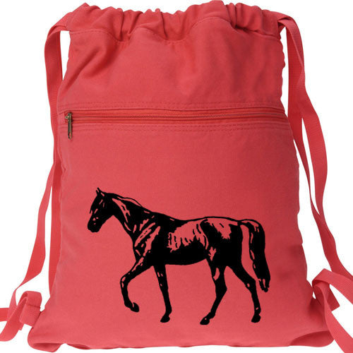 Horse Backpack red