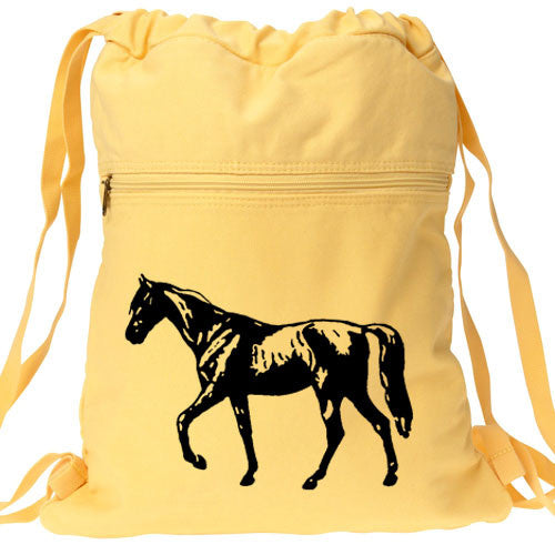 Horse Backpack yellow