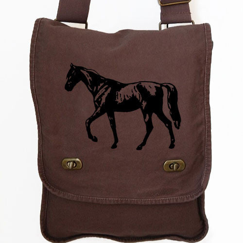 horse messenger bag brown