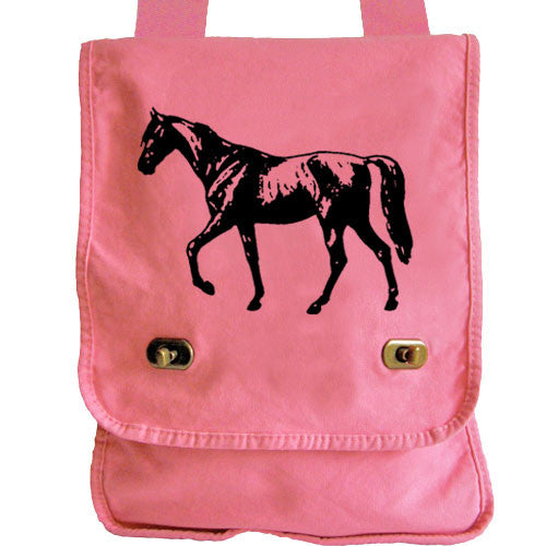 horse messenger bag pink