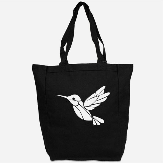 Hummingbird Tote Bag - Custom Canvas Carry All Tote