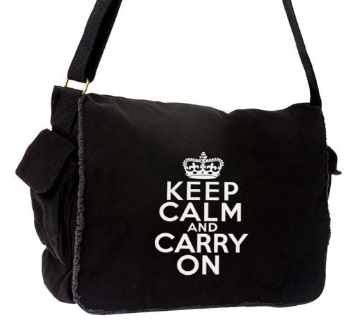 Keep Calm Large Messenger black
