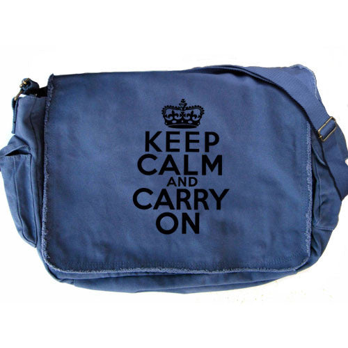 Keep Calm Large Messenger blue